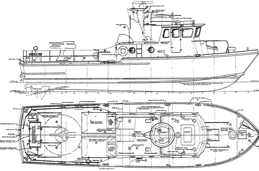 Mark II Swift Boat Line Drawing